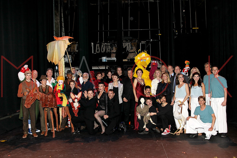 NEW YORK, NY - OCTOBER 17:  Cast members pose back stage at The New 42nd Street Gala at the The New Victory Theater on October 17, 2011 in New York City.  (Photo by Steve Mack/S.D. Mack Pictures)