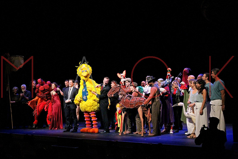 NEW YORK, NY - OCTOBER 17:  Cast members during the curtain call at The New 42nd Street Gala at the The New Victory Theater on October 17, 2011 in New York City.  (Photo by Steve Mack/S.D. Mack Pictures)