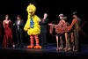 """NEW YORK, NY - OCTOBER 17:  Cheryl Henson, John Tartaglia, Big Bird, Bill Irwin and Joey from """"War Horse"""" during the curtain call at The New 42nd Street Gala at the The New Victory Theater on October 17, 2011 in New York City.  (Photo by Steve Mack/S.D. Mack Pictures) *** Local Caption *** Cheryl Henson; John Tartaglia; Big Bird; Bill Irwin; Joey"""