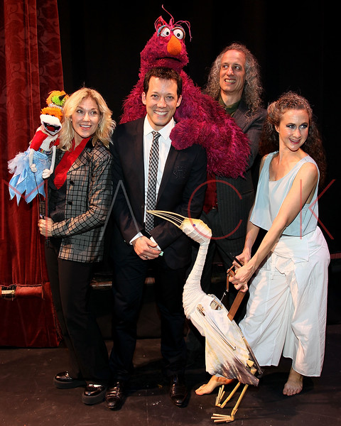 "NEW YORK, NY - OCTOBER 17:  Leslie Carrara-Rudolph from ""Sesame Street"", John Tartaglia, Telly Monster and Martin P. Robinson from ""Sesame Street"" and Heather Henson attend The New 42nd Street Gala at the The New Victory Theater on October 17, 2011 in New York City.  (Photo by Steve Mack/S.D. Mack Pictures) *** Local Caption *** Leslie Carrara-Rudolph; John Tartaglia; Telly Monster; Martin P. Robinson; Heather Henson"