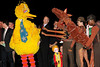 "NEW YORK, NY - OCTOBER 17:  Big Bird, Bill Irwin and Joey from ""War Horse"" during the curtain call at The New 42nd Street Gala at the The New Victory Theater on October 17, 2011 in New York City.  (Photo by Steve Mack/S.D. Mack Pictures) *** Local Caption *** Big Bird; Bill Irwin; Joey"