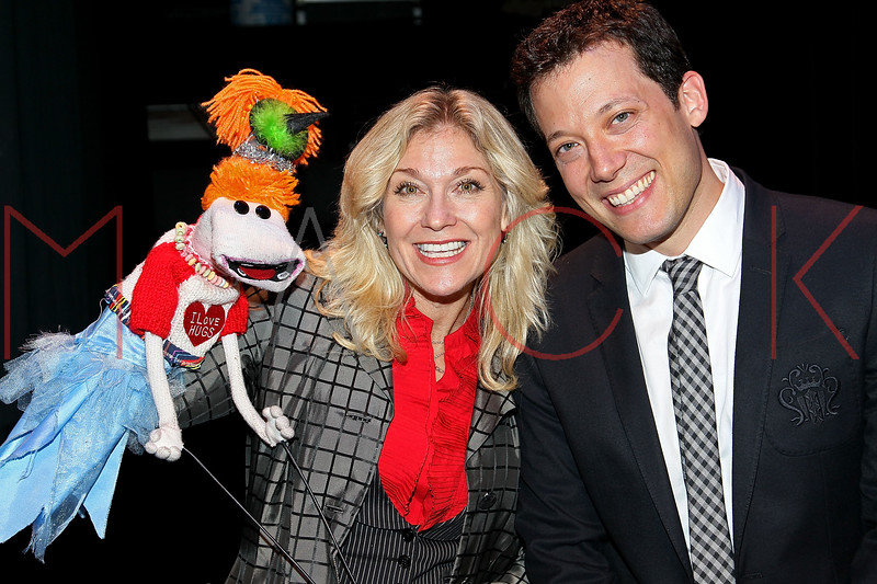"NEW YORK, NY - OCTOBER 17:  Leslie Carrara-Rudolph from ""Sesame Street"" and John Tartaglia attend The New 42nd Street Gala at the The New Victory Theater on October 17, 2011 in New York City.  (Photo by Steve Mack/S.D. Mack Pictures) *** Local Caption *** Leslie Carrara-Rudolph; John Tartaglia"