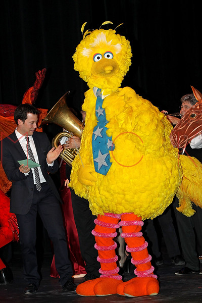 NEW YORK, NY - OCTOBER 17:  John Tartaglia and Big Bird during the curtain call at The New 42nd Street Gala at the The New Victory Theater on October 17, 2011 in New York City.  (Photo by Steve Mack/S.D. Mack Pictures) *** Local Caption *** John Tartaglia; Big Bird