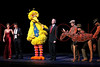 "NEW YORK, NY - OCTOBER 17:  Cheryl Henson, John Tartaglia, Big Bird, Bill Irwin and Joey from ""War Horse"" during the curtain call at The New 42nd Street Gala at the The New Victory Theater on October 17, 2011 in New York City.  (Photo by Steve Mack/S.D. Mack Pictures) *** Local Caption *** Cheryl Henson; John Tartaglia; Big Bird; Bill Irwin; Joey"