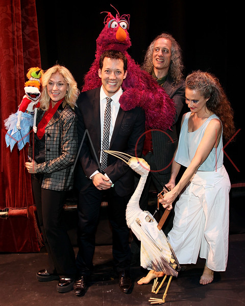 """NEW YORK, NY - OCTOBER 17:  Leslie Carrara-Rudolph from """"Sesame Street"""", John Tartaglia, Telly Monster and Martin P. Robinson from """"Sesame Street"""" and Heather Henson attend The New 42nd Street Gala at the The New Victory Theater on October 17, 2011 in New York City.  (Photo by Steve Mack/S.D. Mack Pictures) *** Local Caption *** Leslie Carrara-Rudolph; John Tartaglia; Telly Monster; Martin P. Robinson; Heather Henson"""