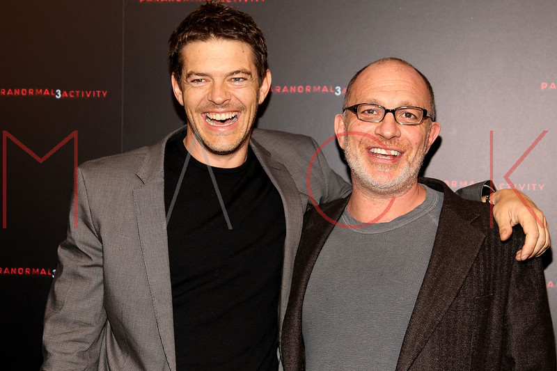 """NEW YORK, NY - OCTOBER 18:  Producers Jason Blum and Akiva Goldsman attend the """"Paranormal Activity 3"""" super-fan screening at the Regal Union Square Theatre, Stadium 14 on October 18, 2011 in New York City.  (Photo by Steve Mack/S.D. Mack Pictures) *** Local Caption *** Jason Blum; Akiva Goldsman"""