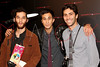 "NEW YORK, NY - OCTOBER 18:  Josh Safdie, co-director Ariel Schulman and Yaniv Schulman attend the ""Paranormal Activity 3"" super-fan screening at the Regal Union Square Theatre, Stadium 14 on October 18, 2011 in New York City.  (Photo by Steve Mack/S.D. Mack Pictures) *** Local Caption *** Josh Safdie; Ariel Schulman; Yaniv Schulman"