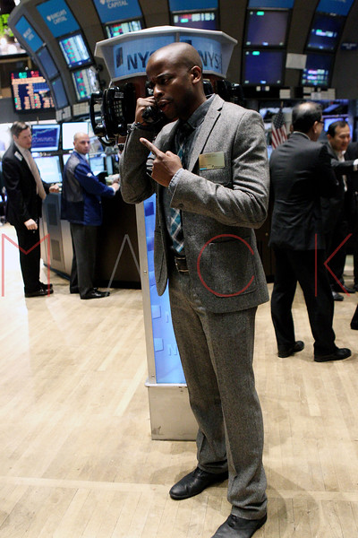 "NEW YORK, NY - OCTOBER 06:  Actor Dulé Hill from the cast of ""Psych""  visits the New York Stock Exchange on October 6, 2011 in New York City.  (Photo by Steve Mack/S.D. Mack Pictures) *** Local Caption *** Dulé Hill"