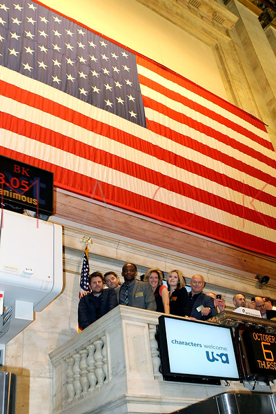 "NEW YORK, NY - OCTOBER 06:  The Cast Members of ""Psych"" visit the New York Stock Exchange on October 6, 2011 in New York City.  (Photo by Steve Mack/S.D. Mack Pictures)"