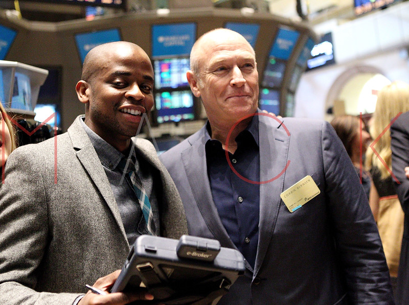 """NEW YORK, NY - OCTOBER 06:  Actors Dulé Hill and Corbin Bernsen from the cast of """"Psych""""  visit the New York Stock Exchange on October 6, 2011 in New York City.  (Photo by Steve Mack/S.D. Mack Pictures) *** Local Caption *** Dulé Hill; Corbin Bernsen"""
