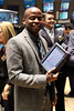 """NEW YORK, NY - OCTOBER 06:  Actor Dulé Hill from the cast of """"Psych""""  visits the New York Stock Exchange on October 6, 2011 in New York City.  (Photo by Steve Mack/S.D. Mack Pictures) *** Local Caption *** Dulé Hill"""
