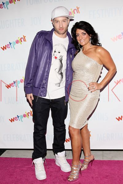 NEW YORK, NY - OCTOBER 05:  DJ Caswell and Kathy Wakile attends Wetpaint Entertainment's one year anniversary party at Espace on October 5, 2011 in New York City.  (Photo by Steve Mack/S.D. Mack Pictures) *** Local Caption *** DJ Caswell; Kathy Wakile