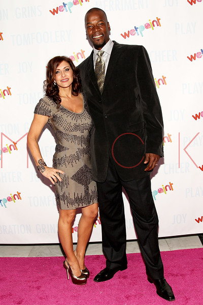 NEW YORK, NY - OCTOBER 05:  Cliff Robinson (R) and his wife Heather Lufkins attend Wetpaint Entertainment's one year anniversary party at Espace on October 5, 2011 in New York City.  (Photo by Steve Mack/S.D. Mack Pictures) *** Local Caption *** Heather Lufkins; Cliff Robinson