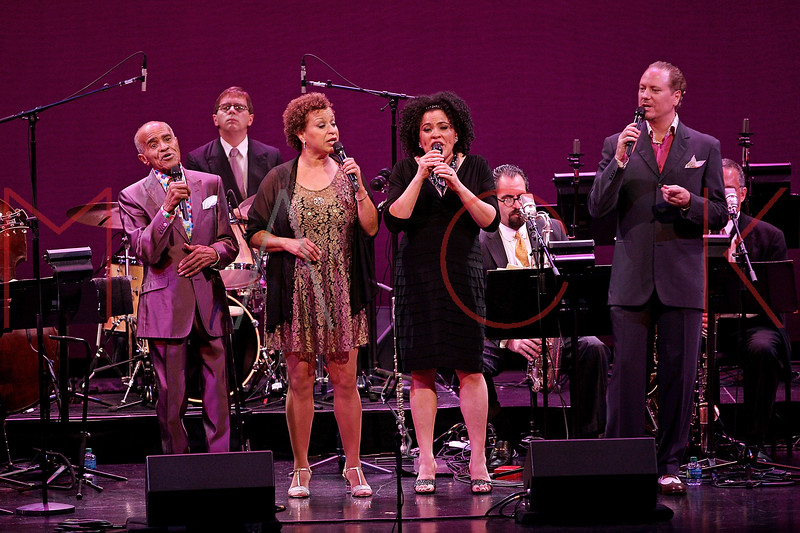 NEW YORK, NY - SEPTEMBER 24:  Jon Hendricks, Michelle Hendricks, Aria Hendricks and Kevin Fitzgerald Burke perform during the 2011 Jazz At Lincoln Center Opening Night Concert featuring Jon Hendricks & Jimmy Heath at the Rose Theater, Jazz at Lincoln Center on September 24, 2011 in New York City.  (Photo by Steve Mack/S.D. Mack Pictures) *** Local Caption *** Jon Hendricks; Michelle Hendricks; Aria Hendricks; Kevin Fitzgerald Burke