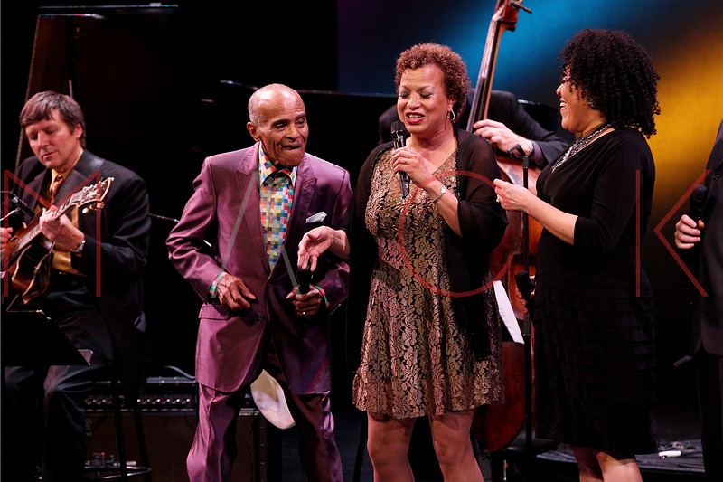 NEW YORK, NY - SEPTEMBER 24:  Jon Hendricks, Michelle Hendricks and Aria Hendricks perform during the 2011 Jazz At Lincoln Center Opening Night Concert featuring Jon Hendricks & Jimmy Heath at the Rose Theater, Jazz at Lincoln Center on September 24, 2011 in New York City.  (Photo by Steve Mack/S.D. Mack Pictures) *** Local Caption *** Jon Hendricks; Michelle Hendricks; Aria Hendricks