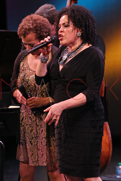 NEW YORK, NY - SEPTEMBER 24:  Aria Hendricks performs during the 2011 Jazz At Lincoln Center Opening Night Concert featuring Jon Hendricks & Jimmy Heath at the Rose Theater, Jazz at Lincoln Center on September 24, 2011 in New York City.  (Photo by Steve Mack/S.D. Mack Pictures) *** Local Caption *** Aria Hendricks