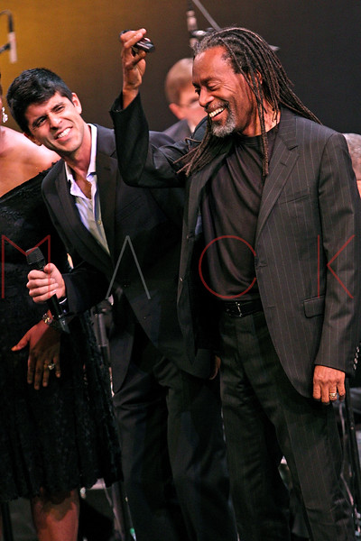 NEW YORK, NY - SEPTEMBER 24:  Sachal Vasandani and Bobby McFerrin perform during the 2011 Jazz At Lincoln Center Opening Night Concert featuring Jon Hendricks & Jimmy Heath at the Rose Theater, Jazz at Lincoln Center on September 24, 2011 in New York City.  (Photo by Steve Mack/S.D. Mack Pictures) *** Local Caption *** Sachal Vasandani; Bobby McFerrin