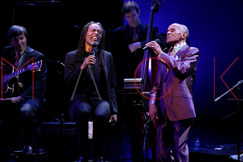 NEW YORK, NY - SEPTEMBER 24:  Jon Hendricks and Bobby McFerrin perform during the 2011 Jazz At Lincoln Center Opening Night Concert featuring Jon Hendricks & Jimmy Heath at the Rose Theater, Jazz at Lincoln Center on September 24, 2011 in New York City.  (Photo by Steve Mack/S.D. Mack Pictures) *** Local Caption *** Jon Hendricks; Bobby McFerrin