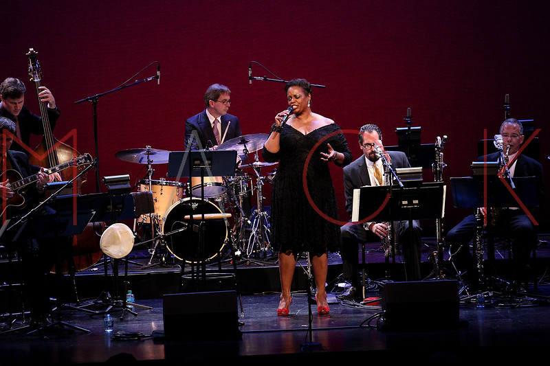 NEW YORK, NY - SEPTEMBER 24:  Dianne Reeves performs during the 2011 Jazz At Lincoln Center Opening Night Concert featuring Jon Hendricks & Jimmy Heath at the Rose Theater, Jazz at Lincoln Center on September 24, 2011 in New York City.  (Photo by Steve Mack/S.D. Mack Pictures) *** Local Caption *** Dianne Reeves