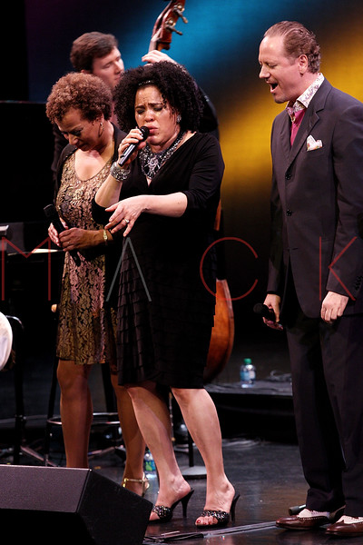 NEW YORK, NY - SEPTEMBER 24:  Michelle Hendricks, Aria Hendricks, and Kevin Fitzgerald Burke perform during the 2011 Jazz At Lincoln Center Opening Night Concert featuring Jon Hendricks & Jimmy Heath at the Rose Theater, Jazz at Lincoln Center on September 24, 2011 in New York City.  (Photo by Steve Mack/S.D. Mack Pictures) *** Local Caption *** Michelle Hendricks; Aria Hendricks; Kevin Fitzgerald Burke