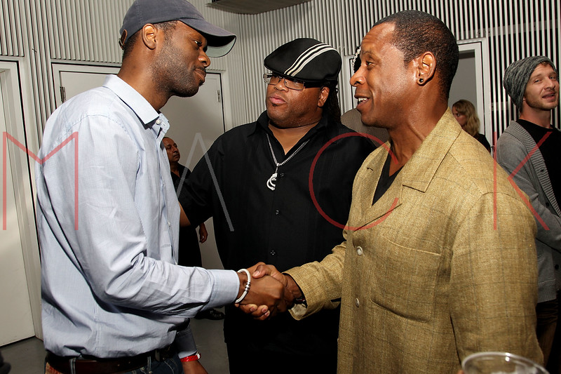 """NEW YORK, NY - SEPTEMBER 28:  Pras of """"The Fugees"""", T Dynasty and Master Gee of """"The Sugar Hill Gang""""  attend a Night of Art Music to benefit Haiti at the Red Bull Space on September 28, 2011 in New York City.  (Photo by Steve Mack/S.D. Mack Pictures) *** Local Caption *** Pras; T Dynasty; Master Gee"""
