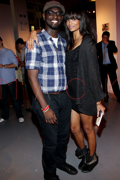 NEW YORK, NY - SEPTEMBER 28:  Carvens Lissaint and Monica Watkins attend a Night of Art Music to benefit Haiti at the Red Bull Space on September 28, 2011 in New York City.  (Photo by Steve Mack/S.D. Mack Pictures) *** Local Caption *** Carvens Lissaint; Monica Watkins