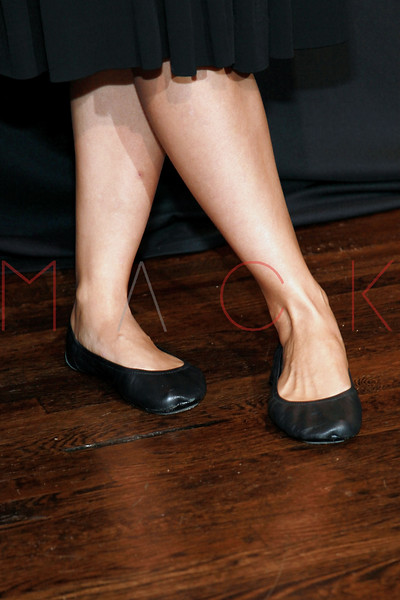 """NEW YORK, NY - SEPTEMBER 22:  Maggie Gyllenhaal (footwear detail) unveils """"got milk?"""" ad at City Bakery on September 22, 2011 in New York City.  (Photo by Steve Mack/S.D. Mack Pictures) *** Local Caption *** Maggie Gyllenhaal"""