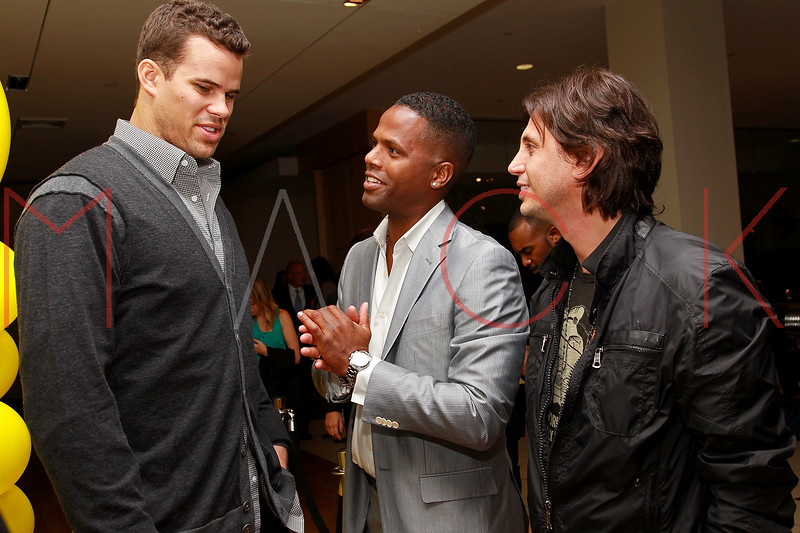 NEW YORK, NY - SEPTEMBER 20:  Kris Humphries, A.J. Calloway and Jonathan Cheban attend the Lamborghini LP700-4 Aventador unveiling and Nuvo Lemon Sorbet launch at Manhattan Motorcars on September 20, 2011 in New York City.  (Photo by Steve Mack/S.D. Mack Pictures) *** Local Caption *** Kris Humphries; A.J. Calloway; Jonathan Cheban