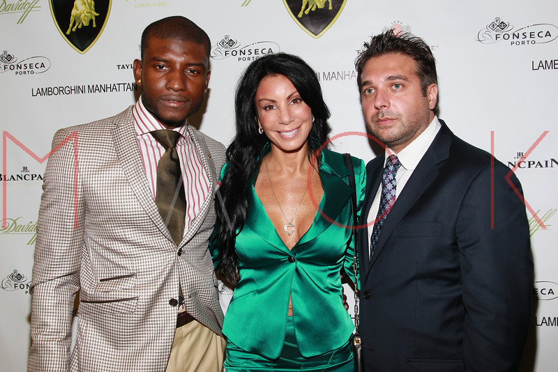 NEW YORK, NY - SEPTEMBER 20:  Maurice Stona, Danielle Staub and Billy Karasik attends the Lamborghini LP700-4 Aventador unveiling and Nuvo Lemon Sorbet launch at Manhattan Motorcars on September 20, 2011 in New York City.  (Photo by Steve Mack/S.D. Mack Pictures)