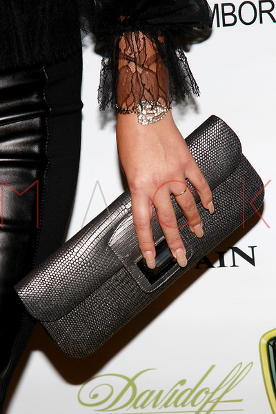 NEW YORK, NY - SEPTEMBER 20:  Aubrey O'Day (handbag detail) attends the Lamborghini LP700-4 Aventador unveiling and Nuvo Lemon Sorbet launch at Manhattan Motorcars on September 20, 2011 in New York City.  (Photo by Steve Mack/S.D. Mack Pictures) *** Local Caption *** Aubrey O'Day