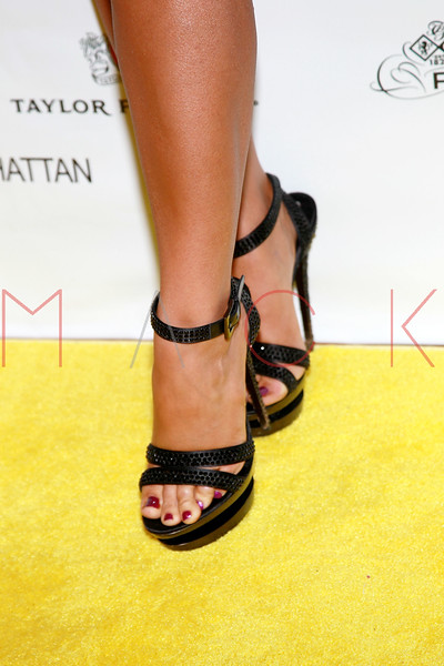 NEW YORK, NY - SEPTEMBER 20:  Aubrey O'Day (footwear detail) attends the Lamborghini LP700-4 Aventador unveiling and Nuvo Lemon Sorbet launch at Manhattan Motorcars on September 20, 2011 in New York City.  (Photo by Steve Mack/S.D. Mack Pictures) *** Local Caption *** Aubrey O'Day