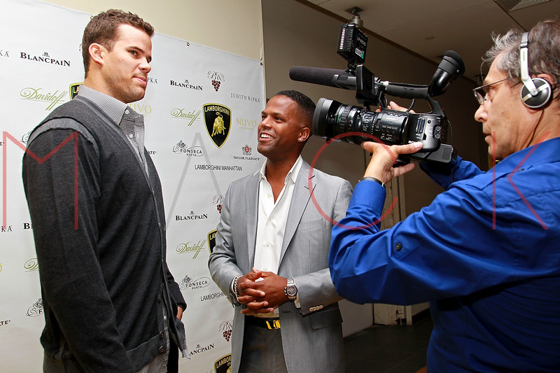 NEW YORK, NY - SEPTEMBER 20:  Kris Humphries and A.J. Calloway attend the Lamborghini LP700-4 Aventador unveiling and Nuvo Lemon Sorbet launch at Manhattan Motorcars on September 20, 2011 in New York City.  (Photo by Steve Mack/S.D. Mack Pictures) *** Local Caption *** Kris Humphries; A.J. Calloway