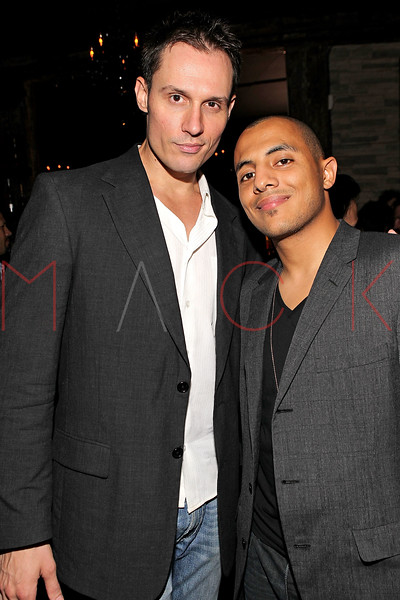 "NEW YORK, NY - SEPTEMBER 30:  Actor Keith Collins and Stan up comic Eman Morgan attend the ""Stuck in the Middle"" premiere after party at Lair Lounge on September 30, 2011 in New York City.  (Photo by Steve Mack/S.D. Mack Pictures) *** Local Caption *** Keith Collins; Eman Morgan"