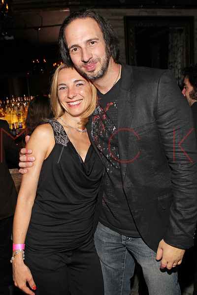 """NEW YORK, NY - SEPTEMBER 30:  Co-director Joseph Pepitone (R) and his wife Christine attend the """"Stuck in the Middle"""" premiere after party at Lair Lounge on September 30, 2011 in New York City.  (Photo by Steve Mack/S.D. Mack Pictures) *** Local Caption *** Christine Pepitone; Joseph Pepitone"""