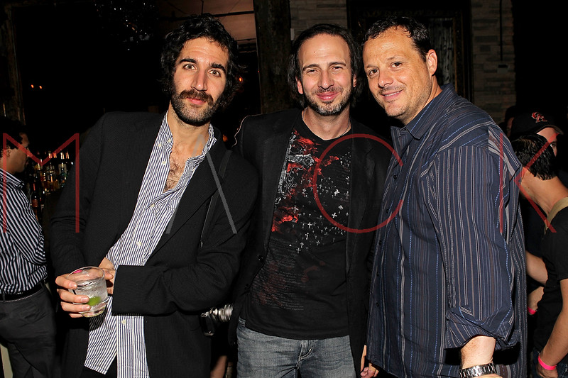 """NEW YORK, NY - SEPTEMBER 30:  Co-Directors Carlos Duhaime, Joseph Pepitone and Producer Jeff Quinlan attend the """"Stuck in the Middle"""" premiere after party at Lair Lounge on September 30, 2011 in New York City.  (Photo by Steve Mack/S.D. Mack Pictures) *** Local Caption *** Carlos Duhaime; Joseph Pepitone; Jeff Quinlan"""