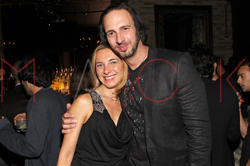 "NEW YORK, NY - SEPTEMBER 30:  Co-director Joseph Pepitone (R) and his wife Christine attend the ""Stuck in the Middle"" premiere after party at Lair Lounge on September 30, 2011 in New York City.  (Photo by Steve Mack/S.D. Mack Pictures) *** Local Caption *** Christine Pepitone; Joseph Pepitone"