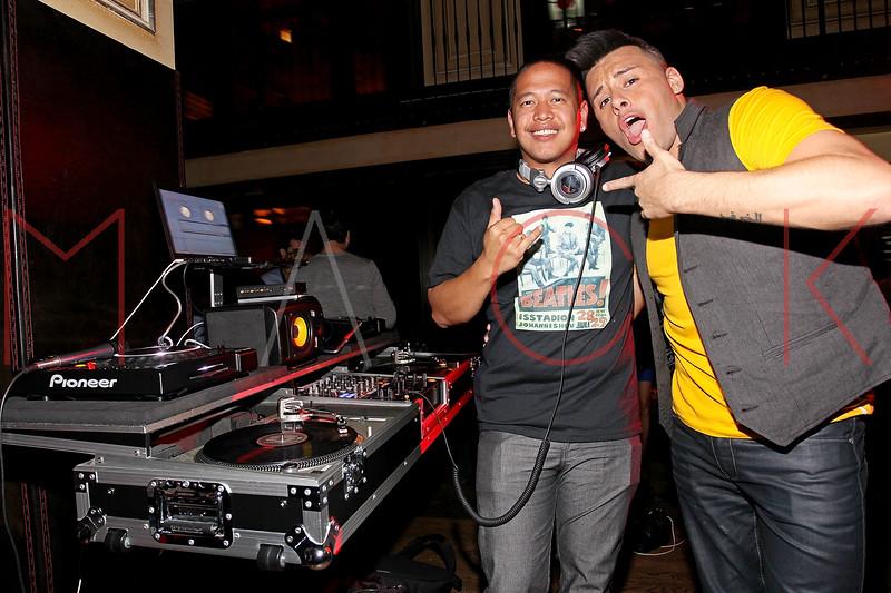 NEW YORK, NY - SEPTEMBER 30:  DJ Yoshi and Johnny Donovan attend Johnny Donovan's 25th Birthday celebration at Millesime Club at Millesime Restaurant on September 30, 2011 in New York City.  (Photo by Steve Mack/S.D. Mack Pictures) *** Local Caption *** DJ Yoshi; Johnny Donovan