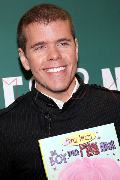 """NEW YORK, NY - SEPTEMBER 06:  Perez Hilton promotes """"The Boy With Pink Hair"""" at the Barnes & Noble Union Square on September 6, 2011 in New York City.  (Photo by Steve Mack/S.D. Mack Pictures) *** Local Caption *** Perez Hilton"""