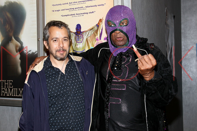 "NEW YORK, NY - SEPTEMBER 16:  Filmmaker Jonathan Furmanski and Rap legend Clarence ""BLOWFLY"" Reid attend the ""The Weird World of Blowfly"" premiere at the Quad Cinema on September 16, 2011 in New York City.  (Photo by Steve Mack/S.D. Mack Pictures) *** Local Caption *** Jonathan Furmanski; Clarence ""BLOWFLY"" Reid"