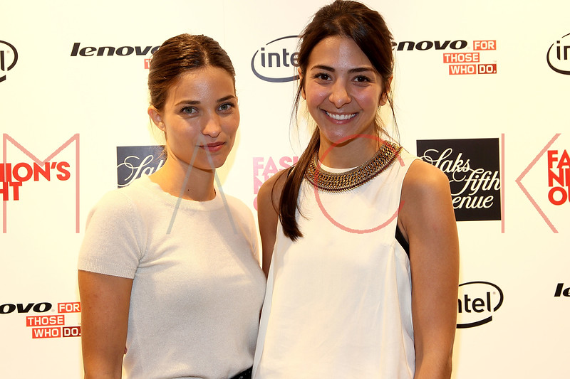 NEW YORK, NY - SEPTEMBER 08:  Madeline Andrews Escudero and Maria Duenas Jacobs at Saks Fifth Avenue on September 8, 2011 in New York City.  (Photo by Steve Mack/Getty Images for Vogue) *** Local Caption *** Madeline Andrews Escudero; Maria Duenas Jacobs