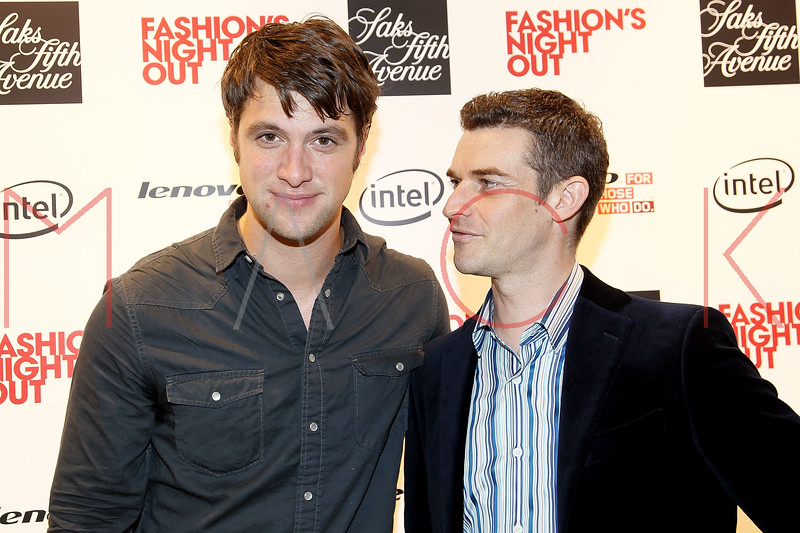 NEW YORK, NY - SEPTEMBER 08:  Shane McRae and Nick Reynolds at Saks Fifth Avenue on September 8, 2011 in New York City.  (Photo by Steve Mack/Getty Images for Vogue) *** Local Caption *** Shane McRae; Nick Reynolds