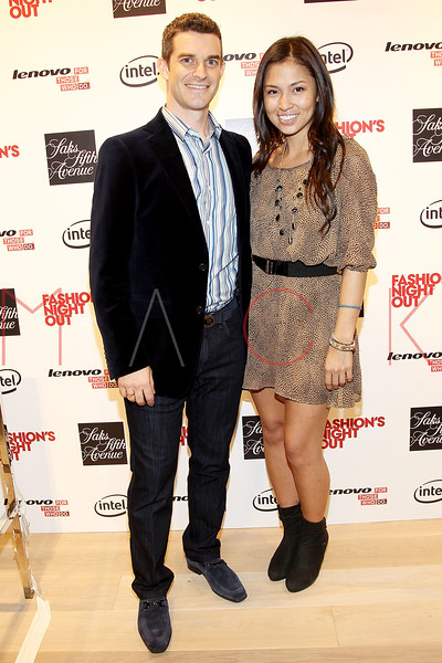 NEW YORK, NY - SEPTEMBER 08:  Nick Reynolds and Samantha Lim at Saks Fifth Avenue on September 8, 2011 in New York City.  (Photo by Steve Mack/Getty Images for Vogue) *** Local Caption *** Nick Reynolds; Samantha Lim