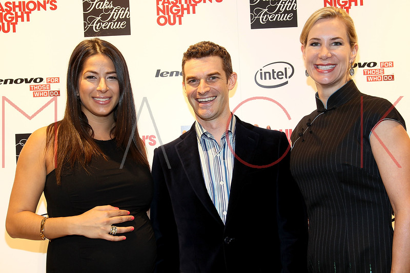 NEW YORK, NY - SEPTEMBER 08:  Rebecca Minkoff, Nick Reynolds and Tracey Trachta at Saks Fifth Avenue on September 8, 2011 in New York City.  (Photo by Steve Mack/Getty Images for Vogue) *** Local Caption *** Rebecca Minkoff; Nick Reynolds; Tracey Trachta
