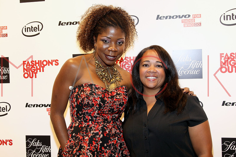 NEW YORK, NY - SEPTEMBER 08:  Sherida McMullan and Chanda Ford at Saks Fifth Avenue on September 8, 2011 in New York City.  (Photo by Steve Mack/Getty Images for Vogue) *** Local Caption *** Nick Reynolds; Chanda Ford
