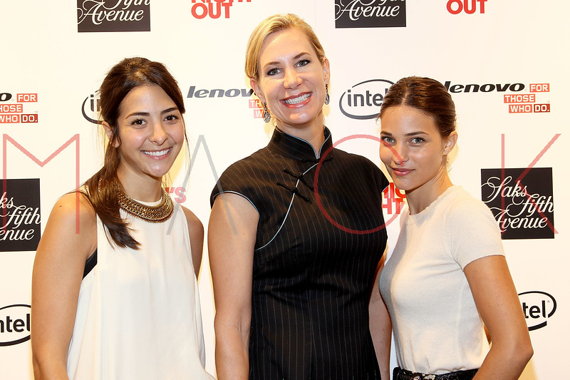 NEW YORK, NY - SEPTEMBER 08:  Madeline Andrews Escudero, Tracey Trachta and Maria Duenas Jacobs at Saks Fifth Avenue on September 8, 2011 in New York City.  (Photo by Steve Mack/Getty Images for Vogue) *** Local Caption *** Madeline Andrews Escudero; Tracey Trachta; Maria Duenas Jacobs