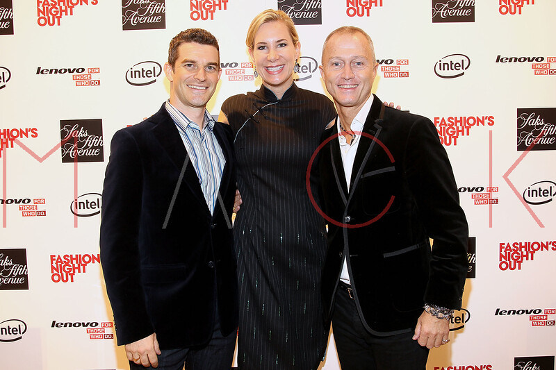 NEW YORK, NY - SEPTEMBER 08:  Nick Reynolds, Tracey Trachta and Guy Bedarida at Saks Fifth Avenue on September 8, 2011 in New York City.  (Photo by Steve Mack/Getty Images for Vogue) *** Local Caption *** Nick Reynolds; Tracey Trachta; Guy Bedarida