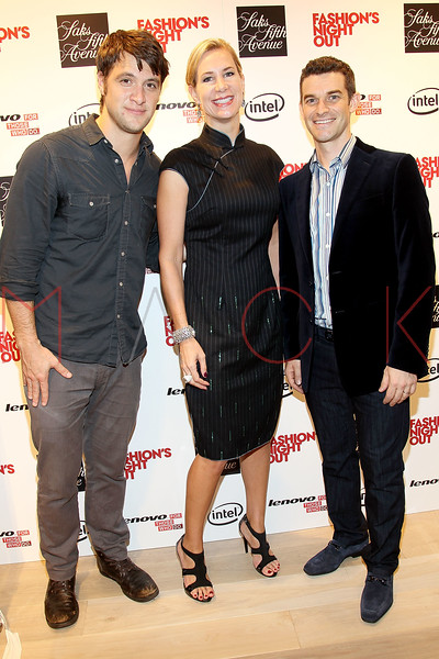 NEW YORK, NY - SEPTEMBER 08:  Shane McRae, Tracey Trachta and Nick Reynolds at Saks Fifth Avenue on September 8, 2011 in New York City.  (Photo by Steve Mack/Getty Images for Vogue) *** Local Caption *** Shane McRae; Tracey Trachta; Nick Reynolds