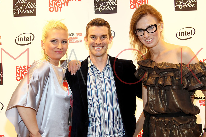 NEW YORK, NY - SEPTEMBER 08:  Liba Drdakova, Nick Reynolds and Caroline at Saks Fifth Avenue on September 8, 2011 in New York City.  (Photo by Steve Mack/Getty Images for Vogue) *** Local Caption *** Liba Drdakova; Nick Reynolds; Caroline