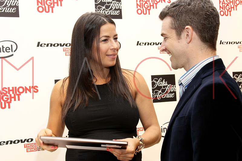 NEW YORK, NY - SEPTEMBER 08:  Rebecca Minkoff and Nick Reynolds at Saks Fifth Avenue on September 8, 2011 in New York City.  (Photo by Steve Mack/Getty Images for Vogue) *** Local Caption *** Rebecca Minkoff; Nick Reynolds