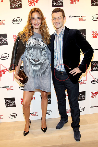 NEW YORK, NY - SEPTEMBER 08:  Ece Sukan and Nick Reynolds at Saks Fifth Avenue on September 8, 2011 in New York City.  (Photo by Steve Mack/Getty Images for Vogue) *** Local Caption *** Ece Sukan; Nick Reynolds